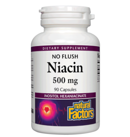 Natural Factors Vit B3 No Flush Niacin 500 mg 90/CAP