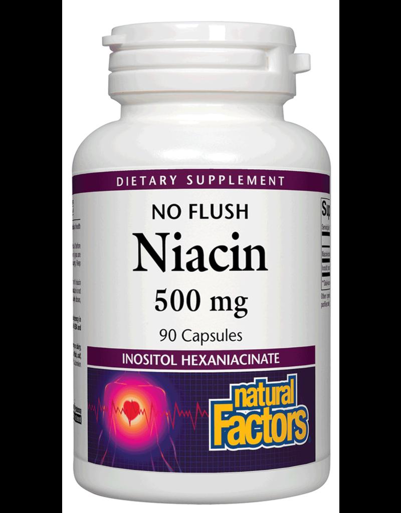 Natural Factors Vit B3 No Flush Niacin 500 mg 90/CAP