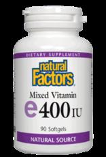 Natural Factors Vit E 400 IU (d-alpha tocopherol) with 10 mg of mixed tocopherols 90/SG
