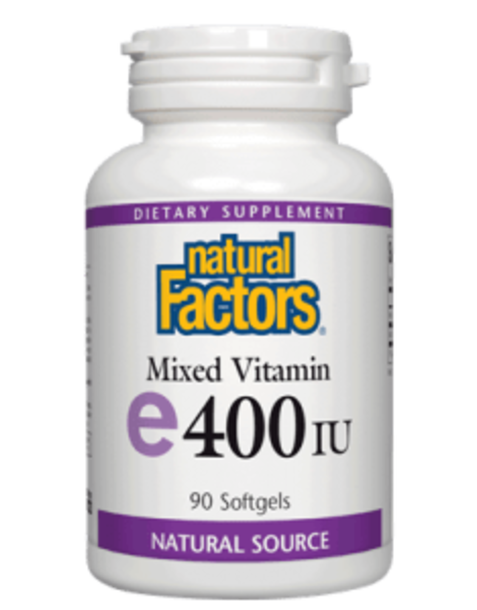 Natural Factors Vit E 400 IU (d-alpha tocopherol) with 10 mg of mixed tocopherols 90/SG