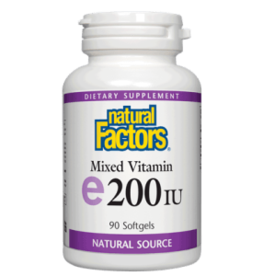 Natural Factors Vit E 200 IU mixed (d-alpha tocopherol) 90/SG