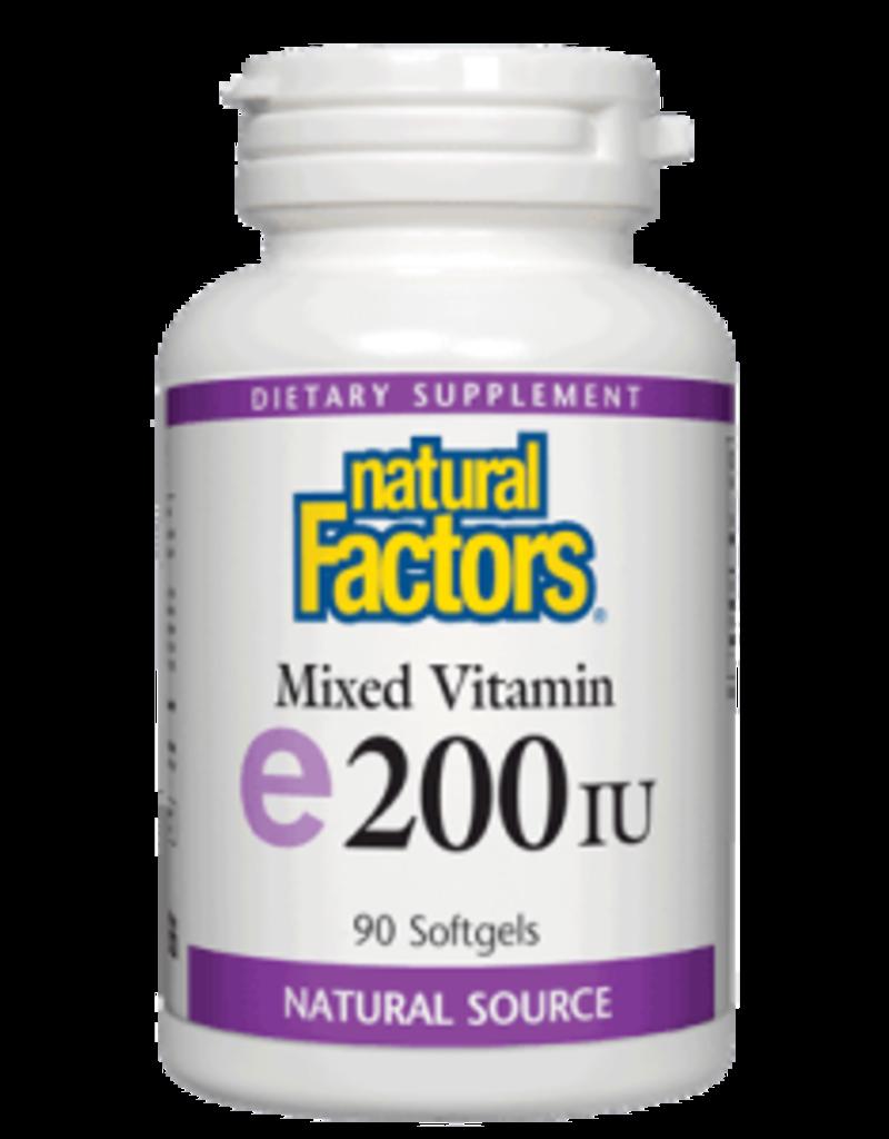 Natural Factors Vit E 200 IU mixed (d-alpha tocopherol) 90/SG