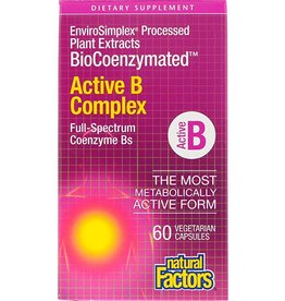 Natural Factors Vit B Active Complex BioCoenzymated 60/VCAP