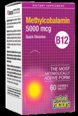 Natural Factors Vit B12 Methylcobalamin 5,000 mcg Chewable 60/TAB