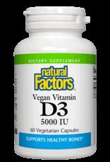 Natural Factors Vit D3 Vegan 5,000 IU 60/VCAP