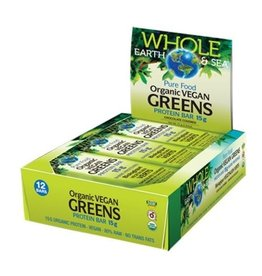 Natural Factors Whole Earth & Sea Organic Vegan Greens Protein Bars 12/BOX