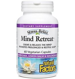 Natural Factors Stress-Relax Mind Retreat 60/VCAP