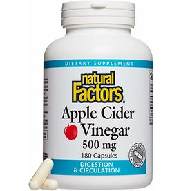 Natural Factors Apple Cider Vinegar 500 mg 180/CAP