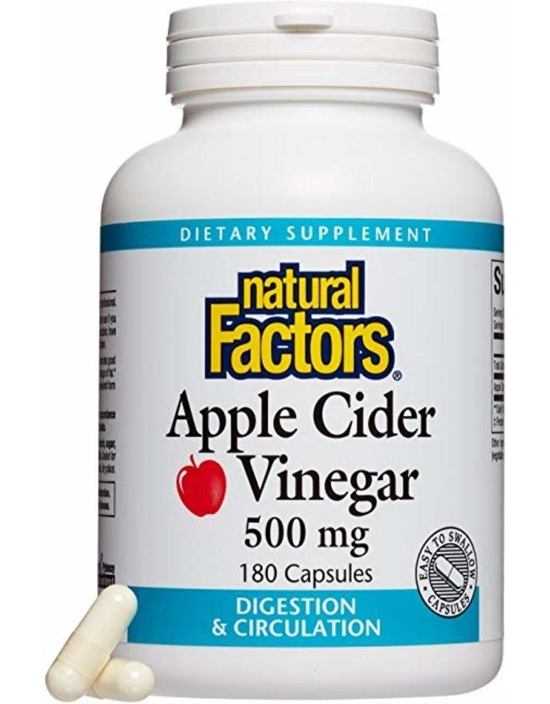 Natural Factors Apple Cider Vinegar 500 mg 180/CAP