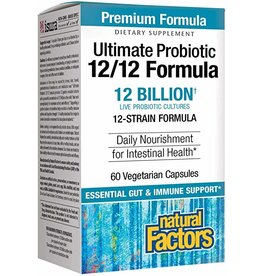 Natural Factors Ultimate Probiotic 12/12 Formula 60/VCAP