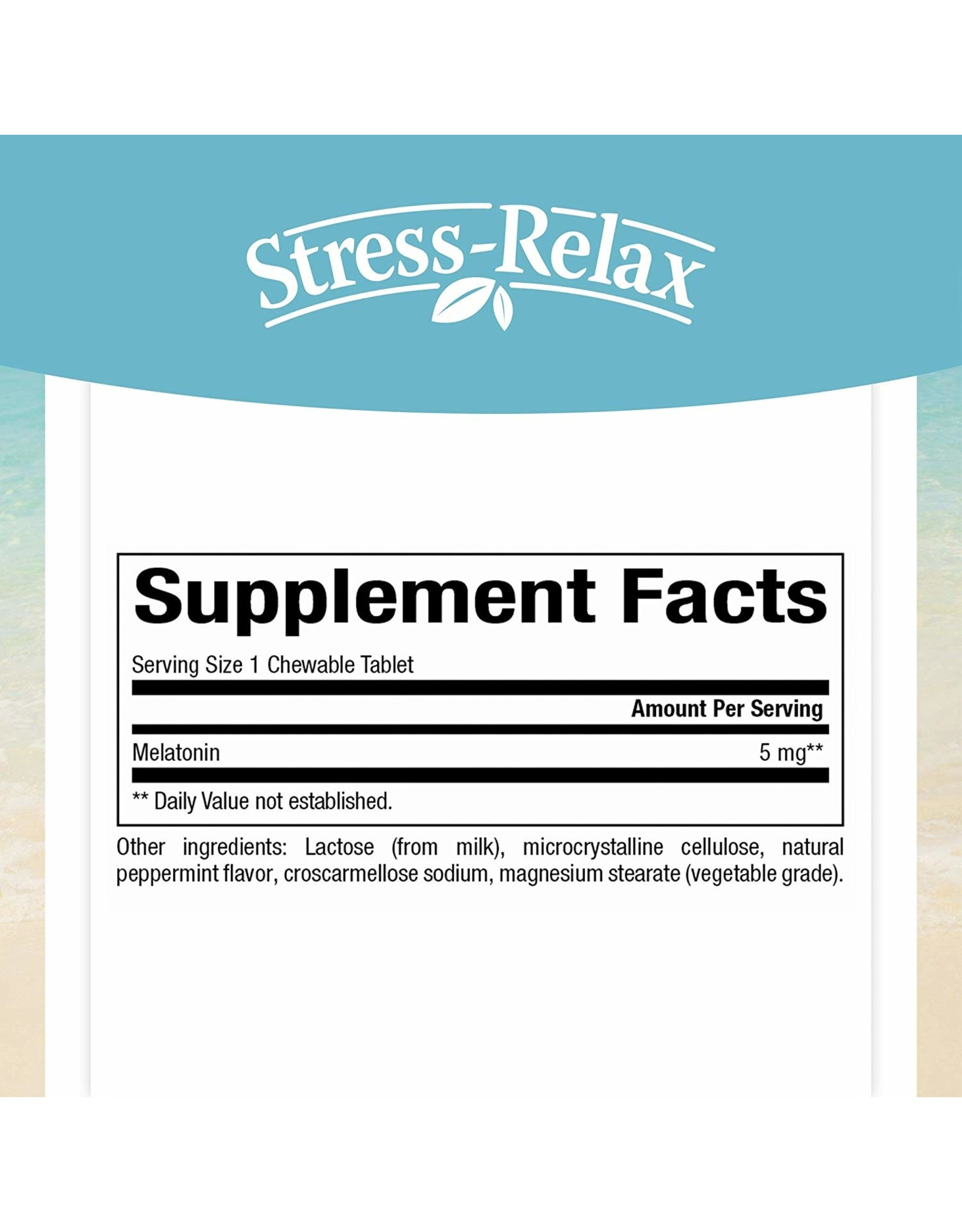 Natural Factors Stress-Relax Melatonin 3 mg Chewable 90/TAB
