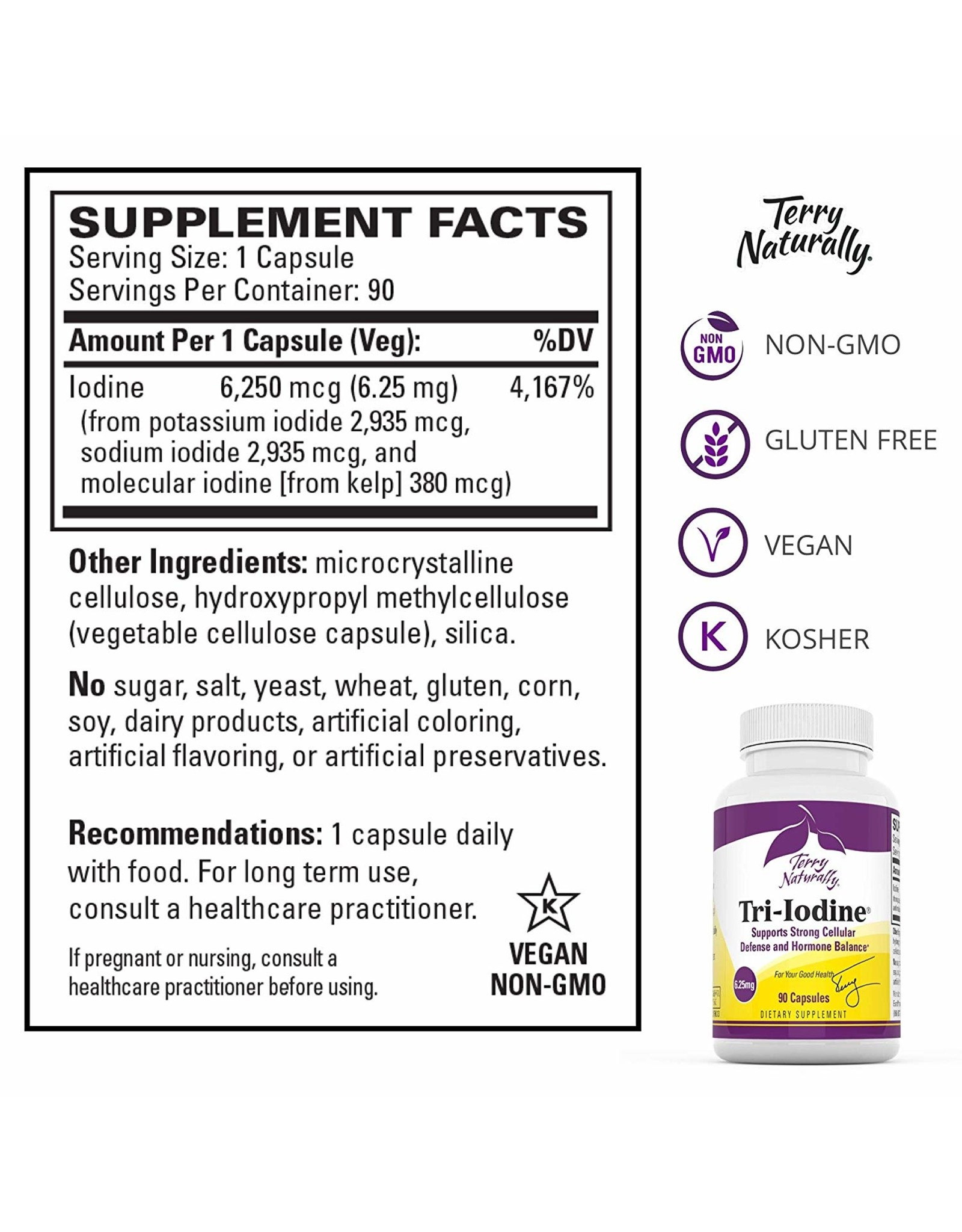 Terry Naturally Tri-Iodine 6.25 mg 90ct