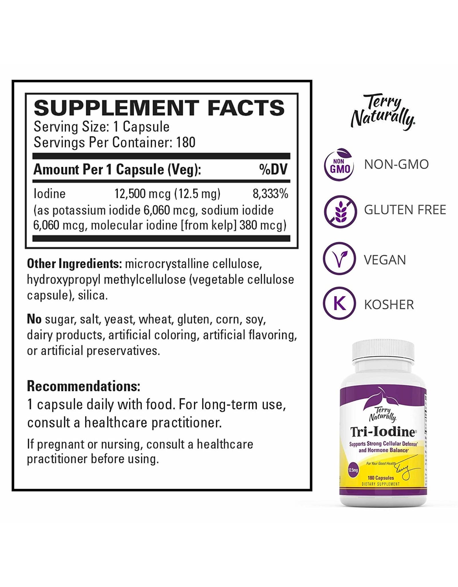 Terry Naturally Tri-Iodine 12.5 mg 90ct