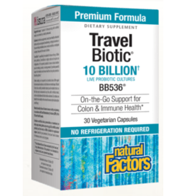 Natural Factors Travel Biotic 10 Billion 30/VCAP