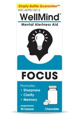 MediNatura WellMind Mental Alertness Aid Tablets - Lemon (90ct)