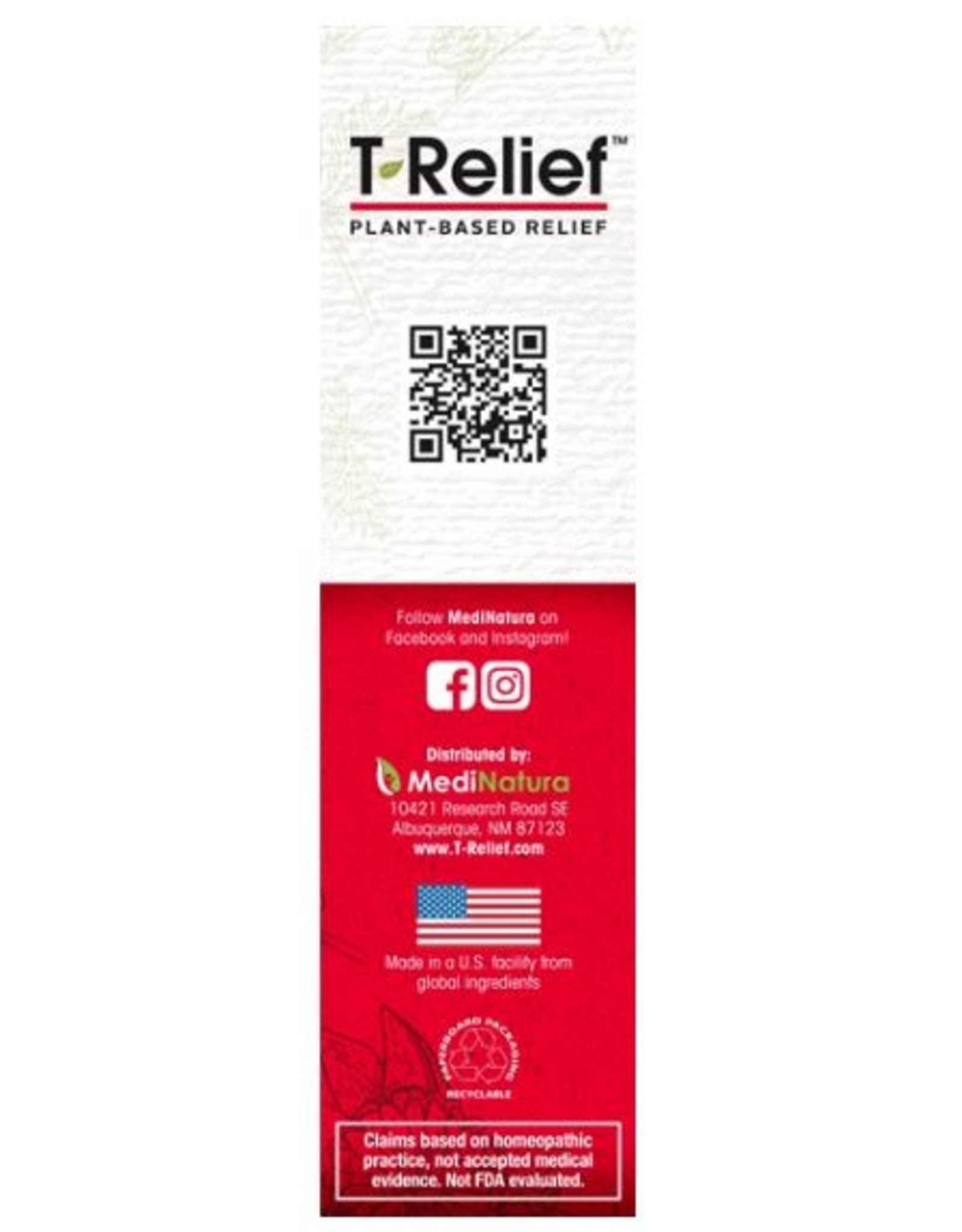 MediNatura T-Relief Pain Relief Cream (2oz)