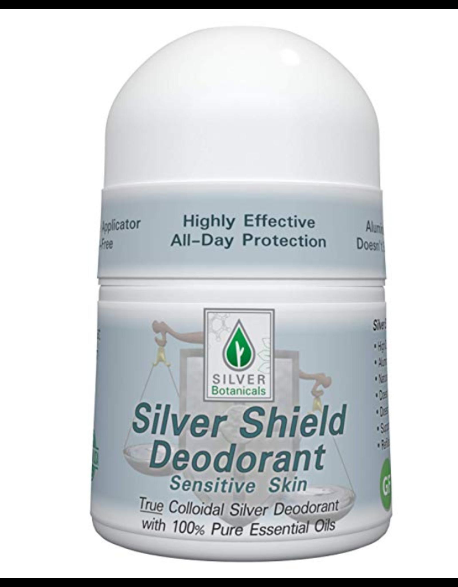 Silver Botanicals Silver Shield Deodorant, Sensitive, Roll On 2oz