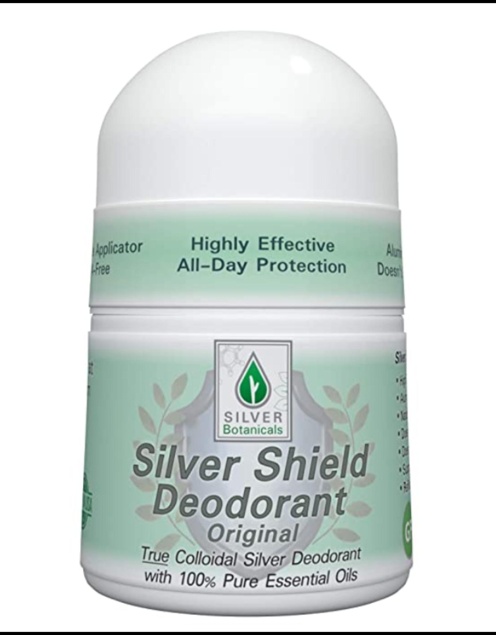 Silver Botanicals Silver Shield Deodorant, Original, Roll On 2oz