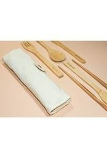 No Tox Life Bamboo Utensil Wrap Set