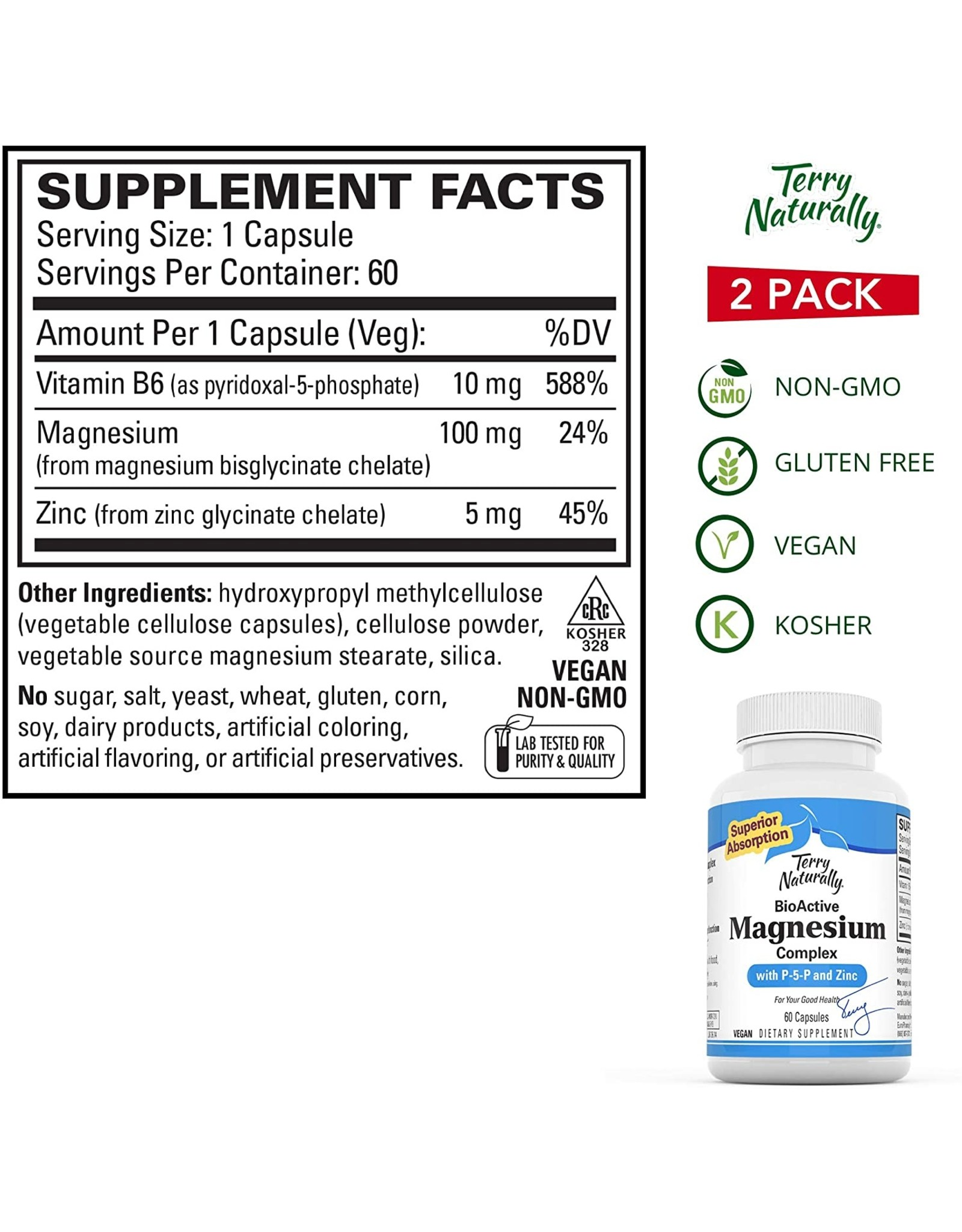 Terry Naturally BioActive Magnesium Complex 60ct
