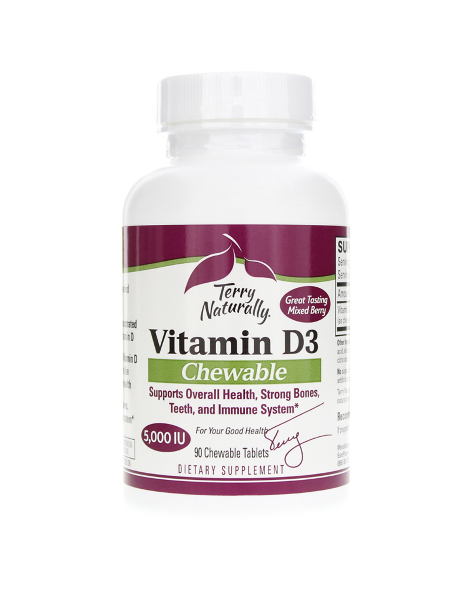Terry Naturally Vitamin D3 Chewable Mixed Berry 90ct