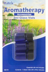 Matrix Aromatherapy 2ml Blue Glass Vials (3pk)