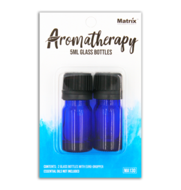 Matrix Aromatherapy 5ml Blue Glass Vials (3pk)