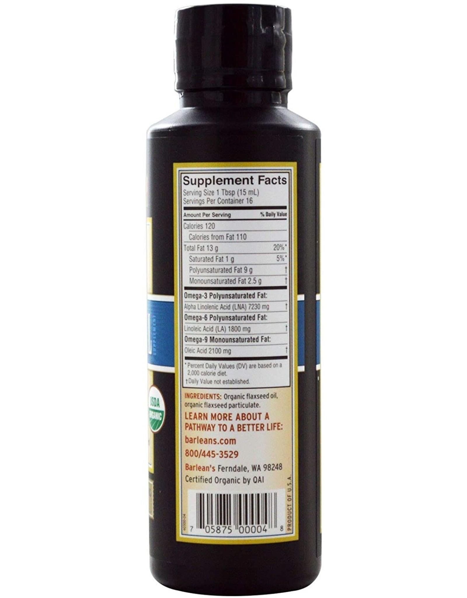 Barleans Organic Lignan Flax Oil 8oz