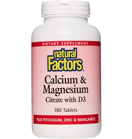 Natural Factors Calcium & Magnesium Citrate w/ Vitamin D3, 90ct