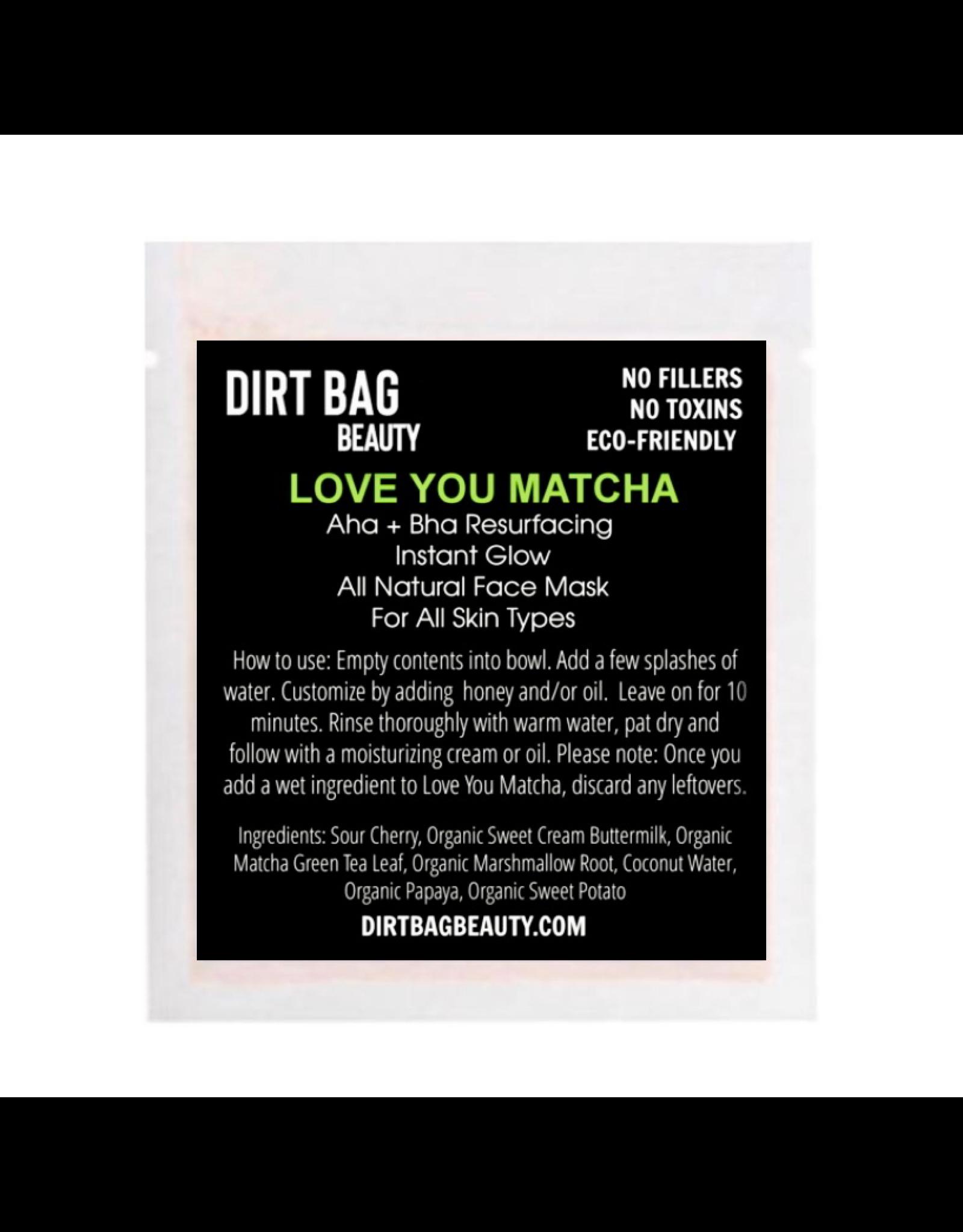 Organic Facial Mask - Love You Matcha