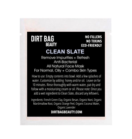 Organic Facial Mask - Clean Slate