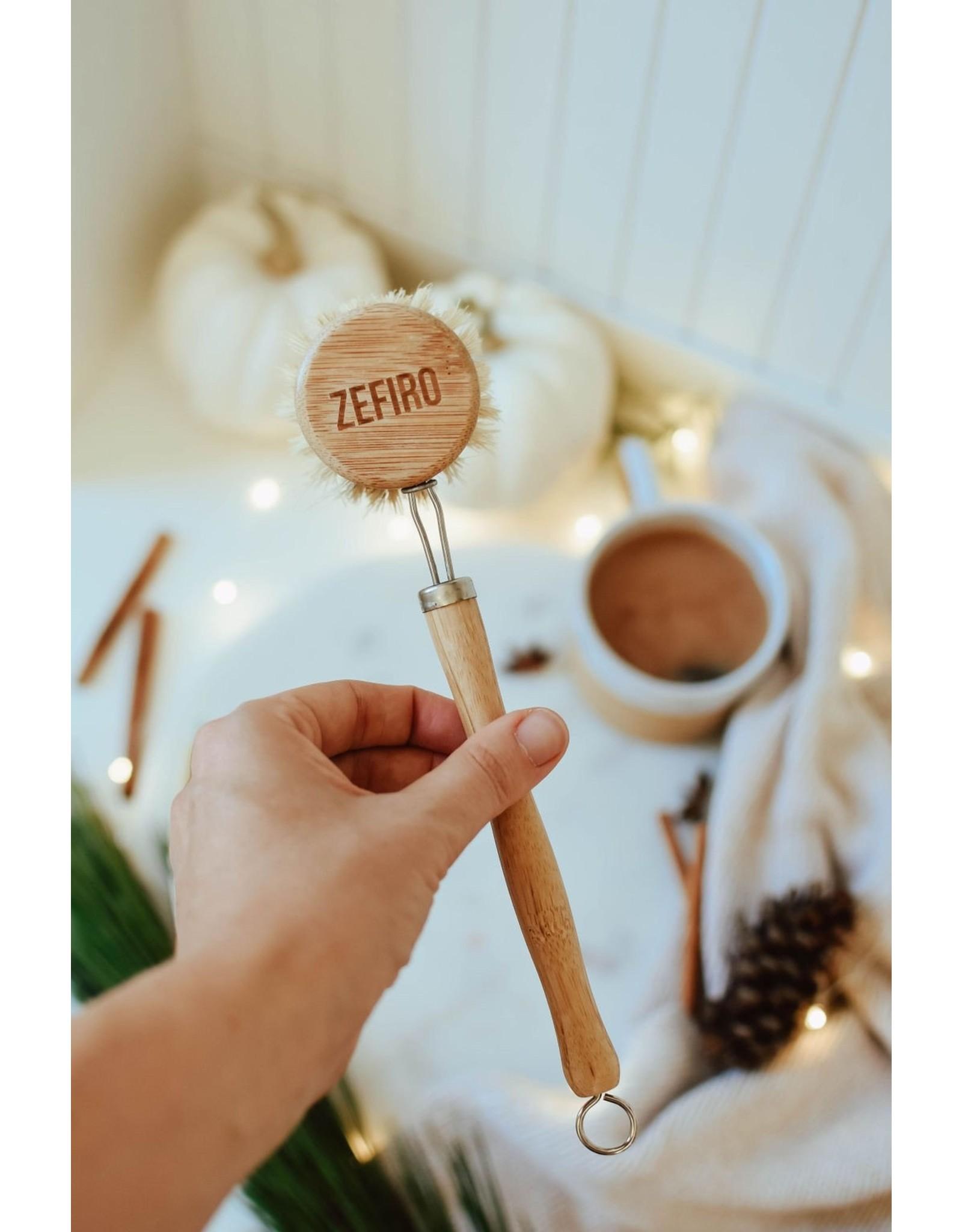 Bamboo Long Handle Dish Brush