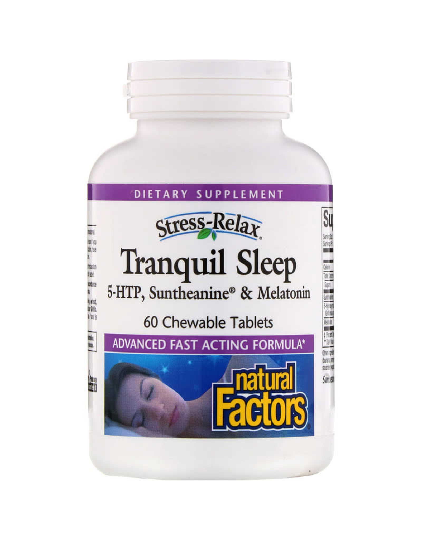 Natural Factors Stress-Relax Tranquil Sleep Chewable 60/TAB