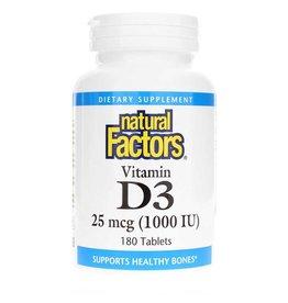 Natural Factors Vitamin D3 1,000 IU 180/SG