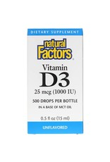 Natural Factors Vitamin D3 Drops 1,000 IU .5oz/OZ