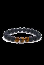 Matrix Aromatherapy Tiger's Eye Lava Bracelet