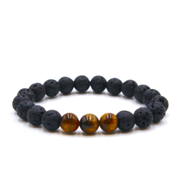 Matrix Aromatherapy Lava Bracelet - Tiger's Eye