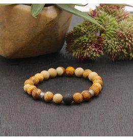 Matrix Aromatherapy Jasper Lava Bracelet