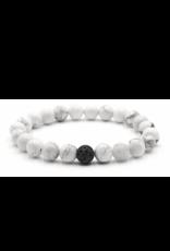 Matrix Aromatherapy Howlite Lava Bracelet