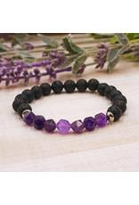 Matrix Aromatherapy Amethyst Lava Bracelet