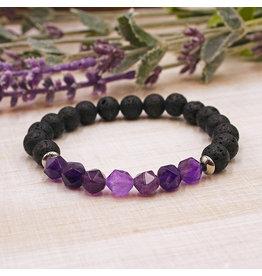 Matrix Aromatherapy Lava Bracelet - Amethyst