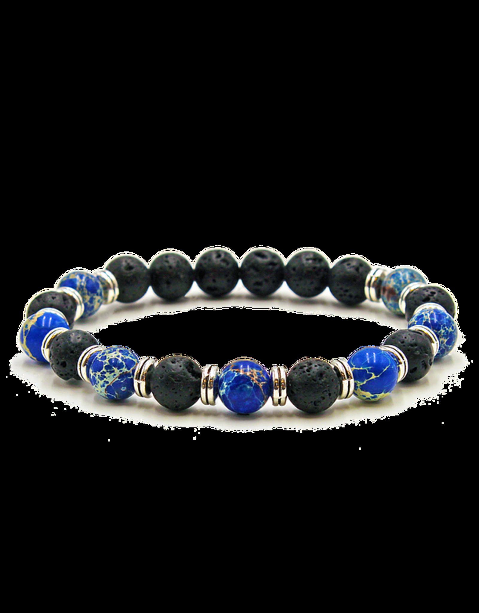 Matrix Aromatherapy Blue Jasper Lava Bracelet