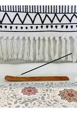 Natural Wood Incense Holder