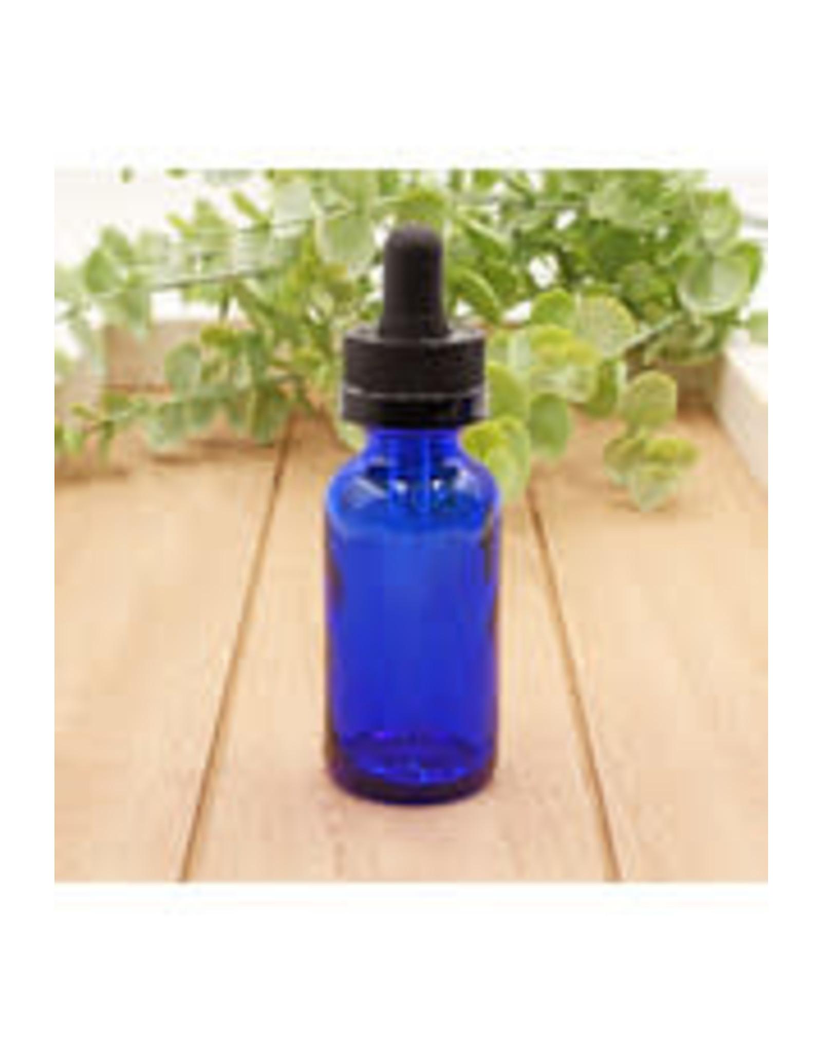 Matrix Aromatherapy 1oz Blue Glass Bottle w/Dropper