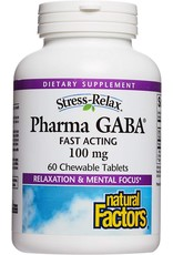 Natural Factors Stress-Relax Pharma GABA Chewable 60/TAB