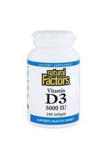 Natural Factors Vit D3 5,000 IU 240/SG