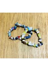 Mix Stone Chip Bead Stretch Bracelet