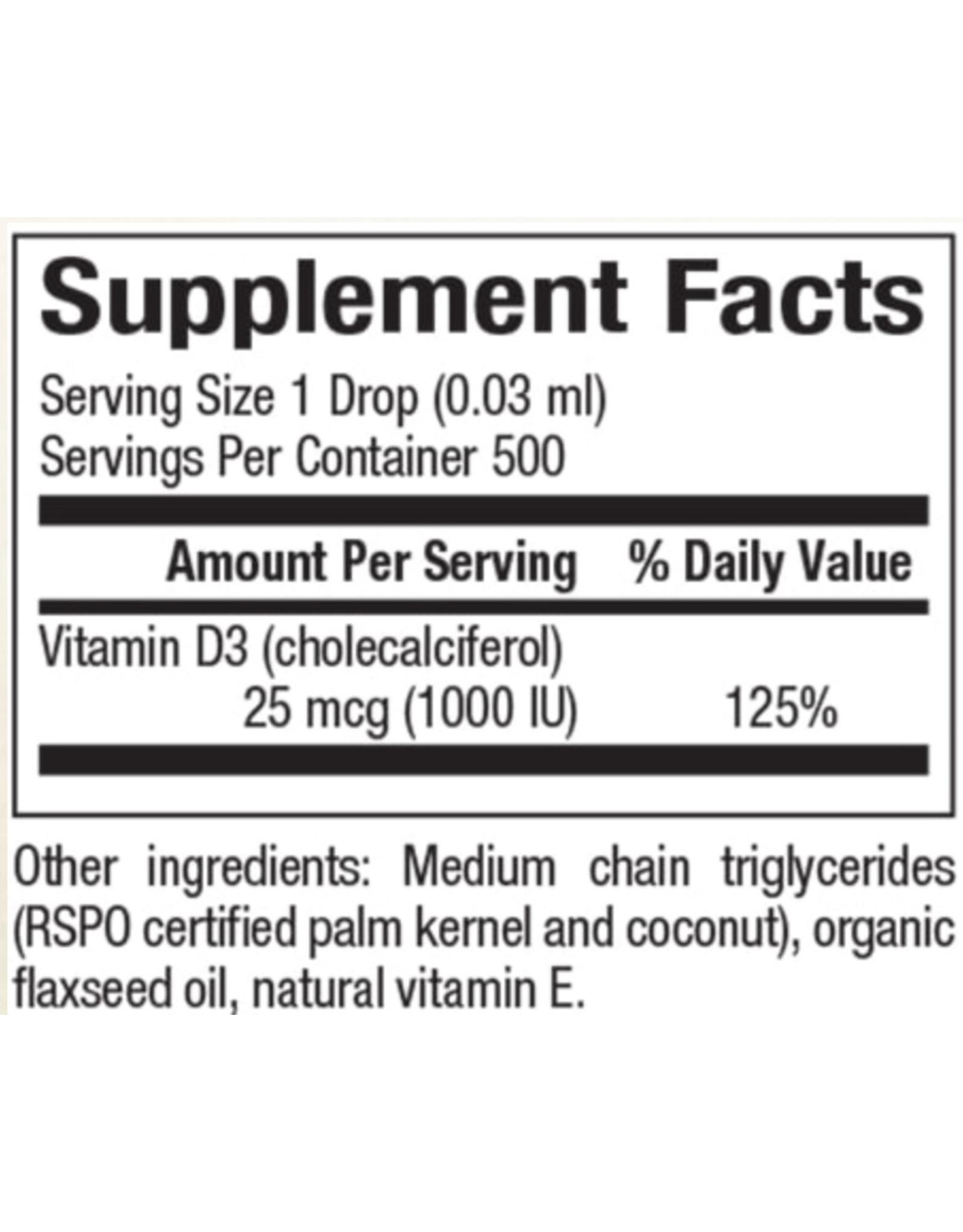 Natural Factors Vitamin D3 Drops 1,000 IU .5oz/OZ