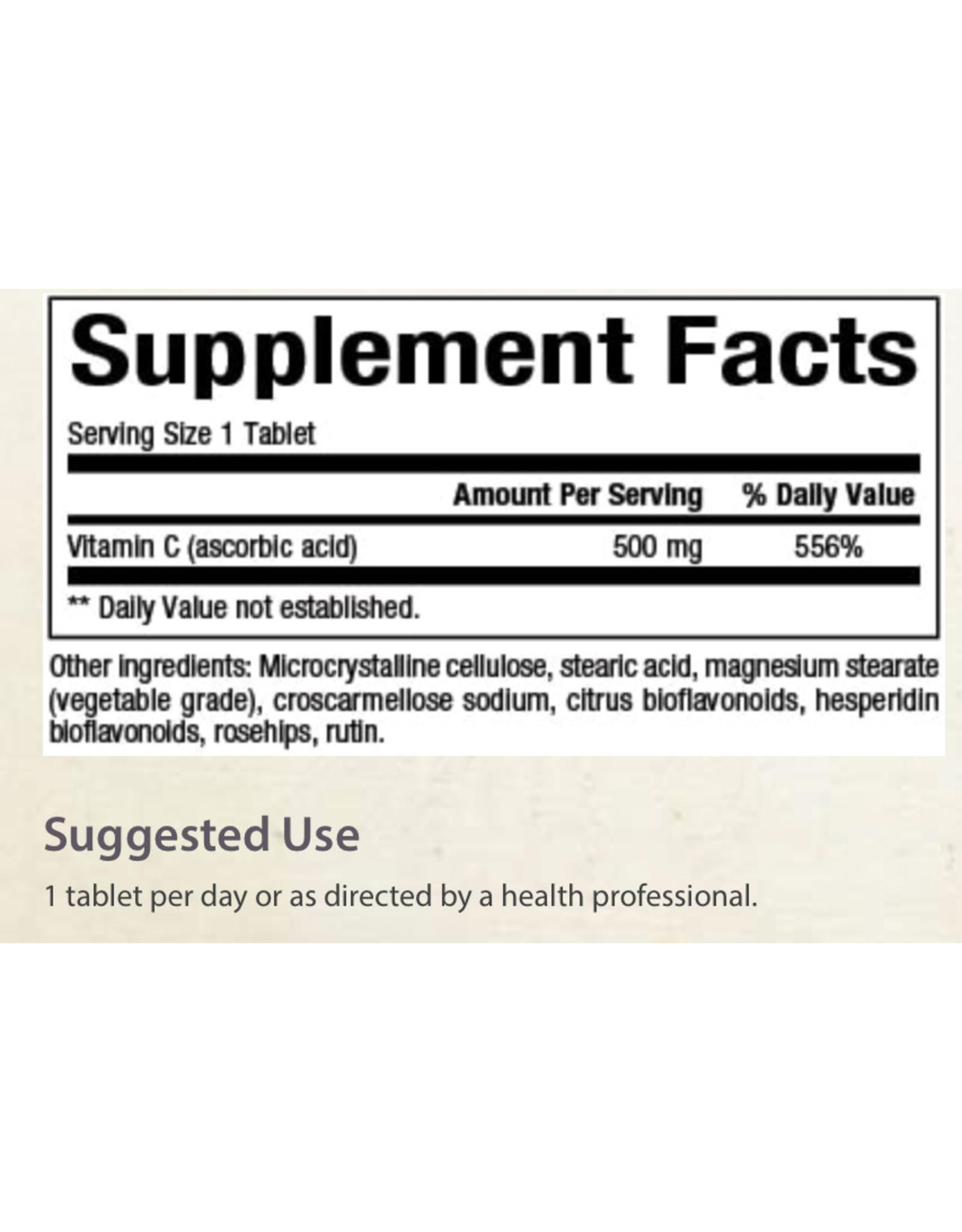 Natural Factors Vit C 500 mg w/Rosehips 90/TAB