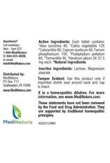 MediNatura BHI Constipation Tablets (100ct)